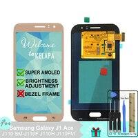 Super AMOLED LCD For Samsung Galaxy J1 Ace J110 SM J110F J110H J110FM Touch Screen Digitizer Assembly
