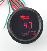 2 Inch 52mm Black Car Moter Red Led Light Digital Electronic Water Temp Gauge Water Temperature