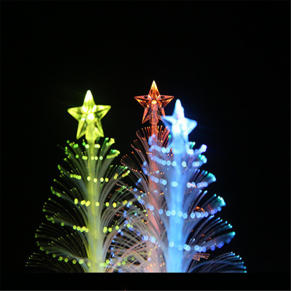 10 unids Night Led árbol de navidad luces Led de fibra de