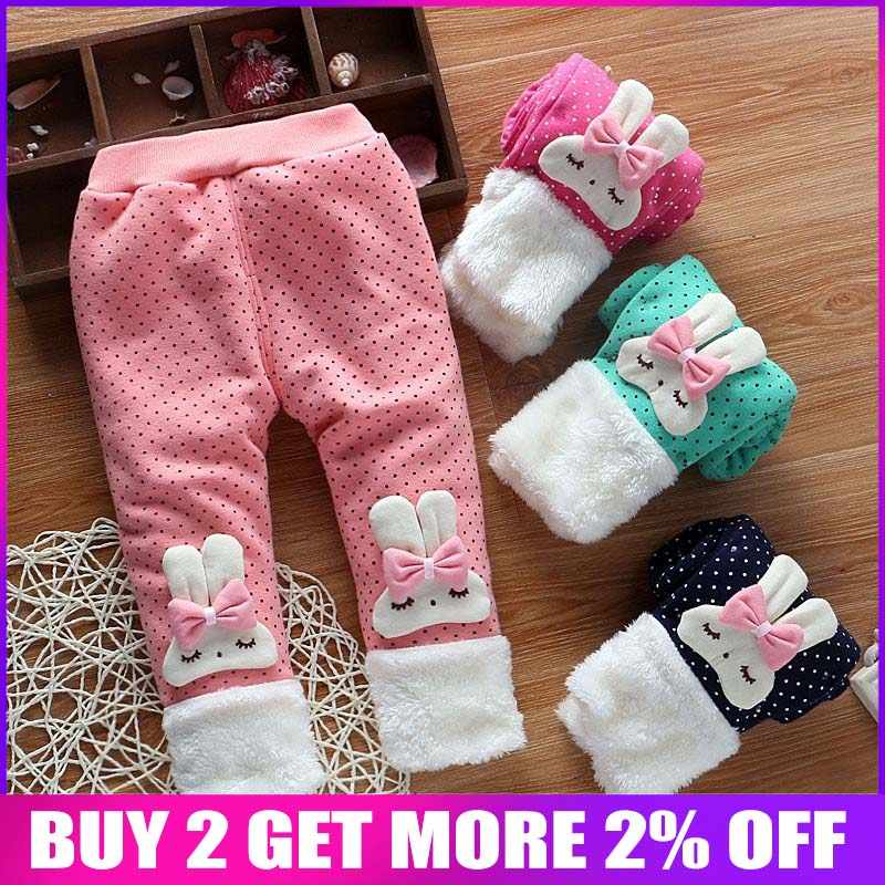 de9af5b47ee BibiCola toddler baby pants newborn girls winter warm thick plus velvet leggings  trousers infant clothes girl