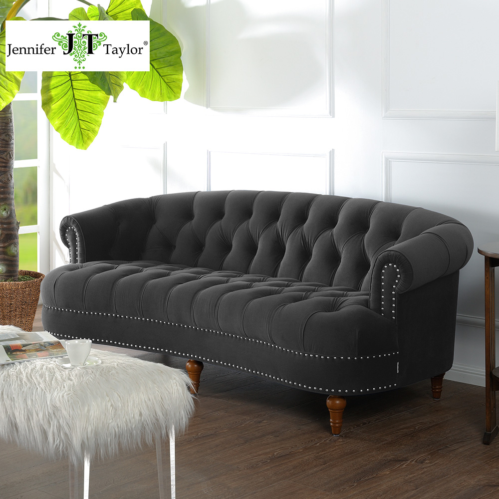 compare prices on gray modern sofa online shoppingbuy low price  - jennifer taylor la rosa dark gull gray sofaw x d x h