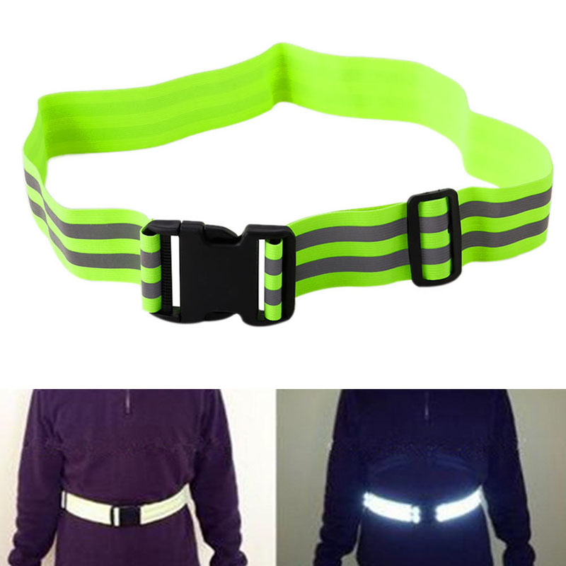 High Visibility Reflective Safety Security Belt For Night Running Walking Biking