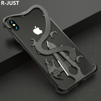 For iPhone XS Max Cover Case Luxury Slim Hard Metal Aluminum Alloy Armor Protective Bumper Phone Case for iPhone XR X Back Cover