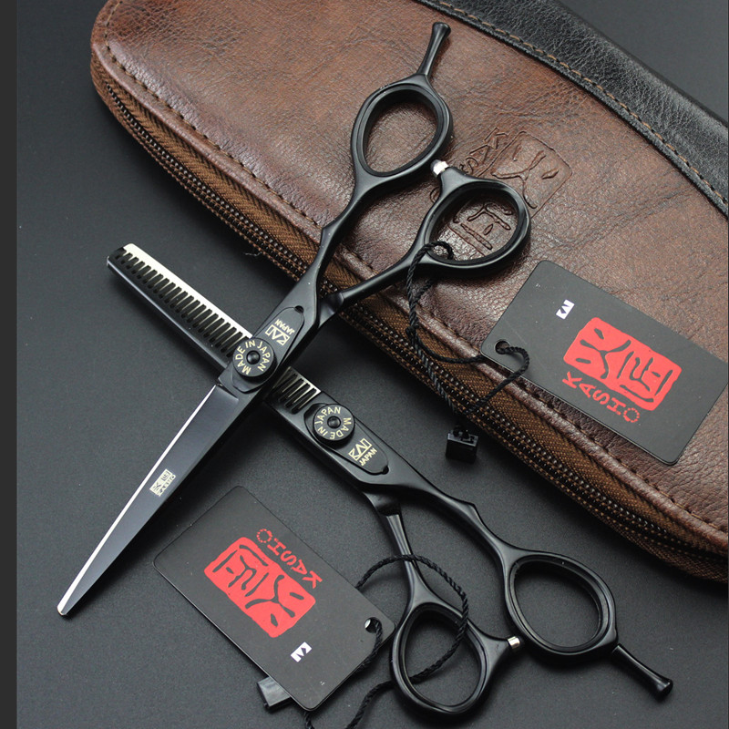 5.5 Inch Kasho Scissors Professional Hair Scissors High Quality Hairdressing Barber Hair Cutting Shears Sets with Bag 4 Colors 6 inch japan kasho cutting scissors professional hair shears for hair salon hairdressing barber high quality sus440c