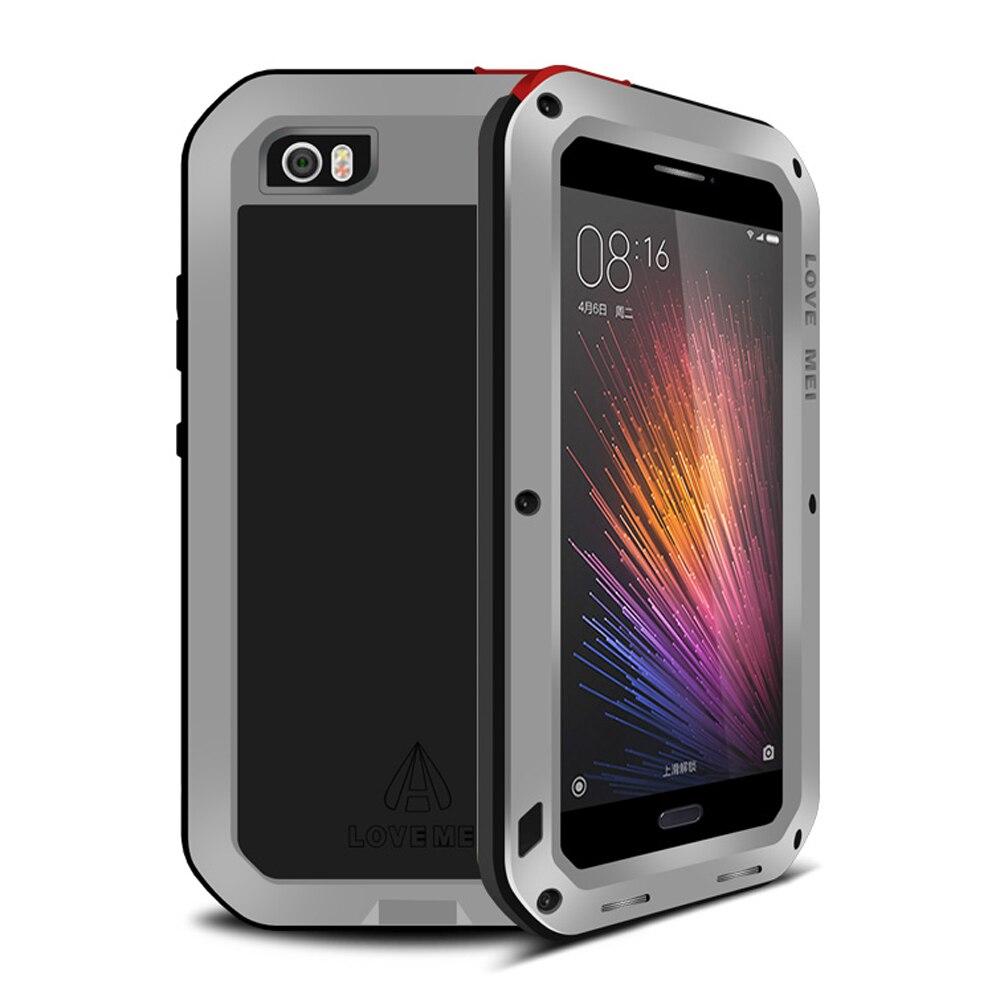bilder für Für Xiaomi Mi Mi5 Fall Aluminium Metal Armor Wasserdicht Stoßfest + Gorilla-glas Für Xiaomi Mi 5 Fall Metall Schützen abdeckung