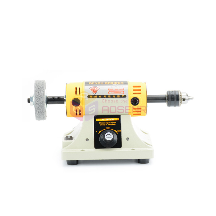 New Good Bench Grinder Jewelry Jade Stone Grinding Polishing Machine Polisher 220V Flexible Shaft Bench Buffer