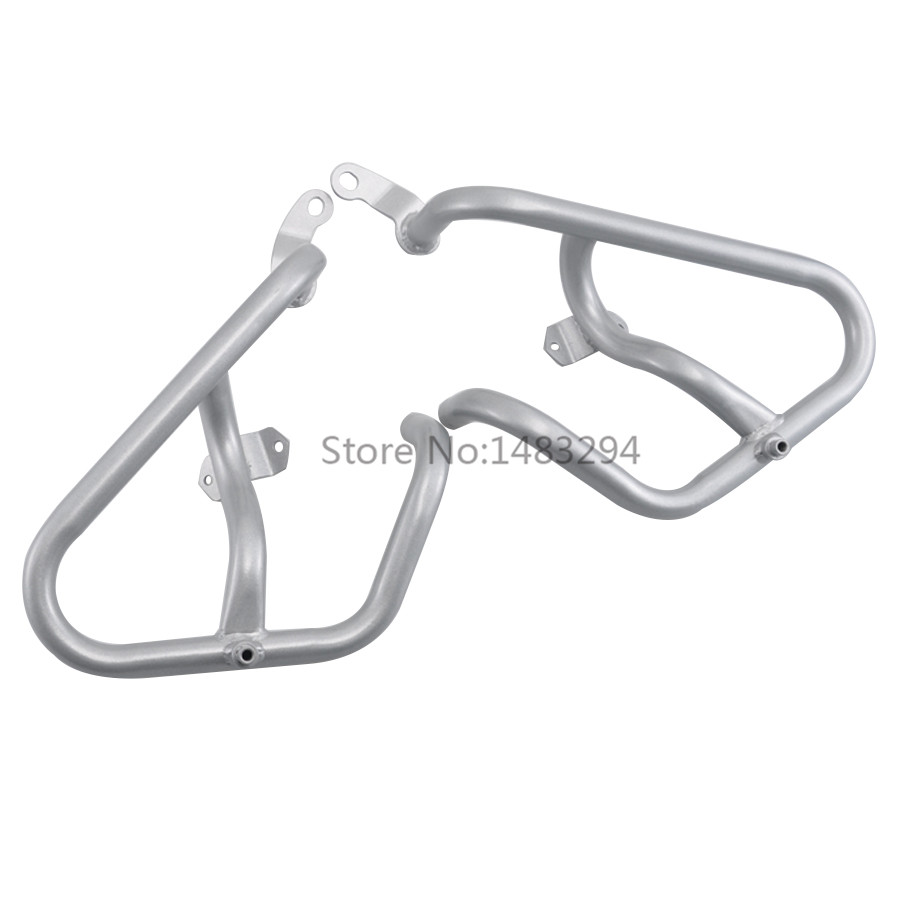 A Pair Silver Engine Highway <font><b>Crash</b></font> <font><b>Bar</b></font> Guard Protector Bumper Protective frame For <font><b>Honda</b></font> NC750X NC750S <font><b>NC700X</b></font> NC700S 12-17 image