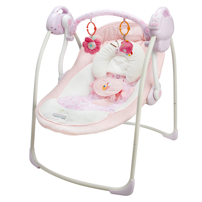 Free Shipping Electric Baby Swing Chair Musical Baby Bouncer Swing Newborn Baby Swings Automatic Baby Swing Rocker Small Size In Bouncersjumpers Swings