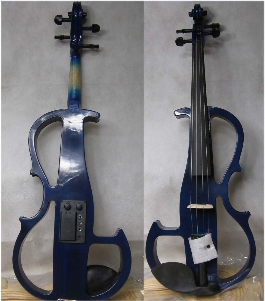 blue 4/4 High quality  Electric violin 6# yellow 4 4 high quality electric violin 5