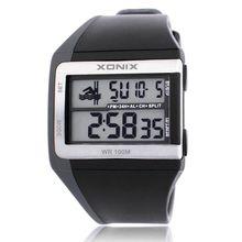 XONIX Brands Classic Fashion Animation  Multifunction Daterproof Diving LED Luminous Electronic Watches Stopwatch Countdown 100M