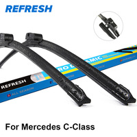 Car Wiper Blade For Mercedes Benz C CLASS W204 24 24 Rubber Bracketless Windscreen Wiper Blades