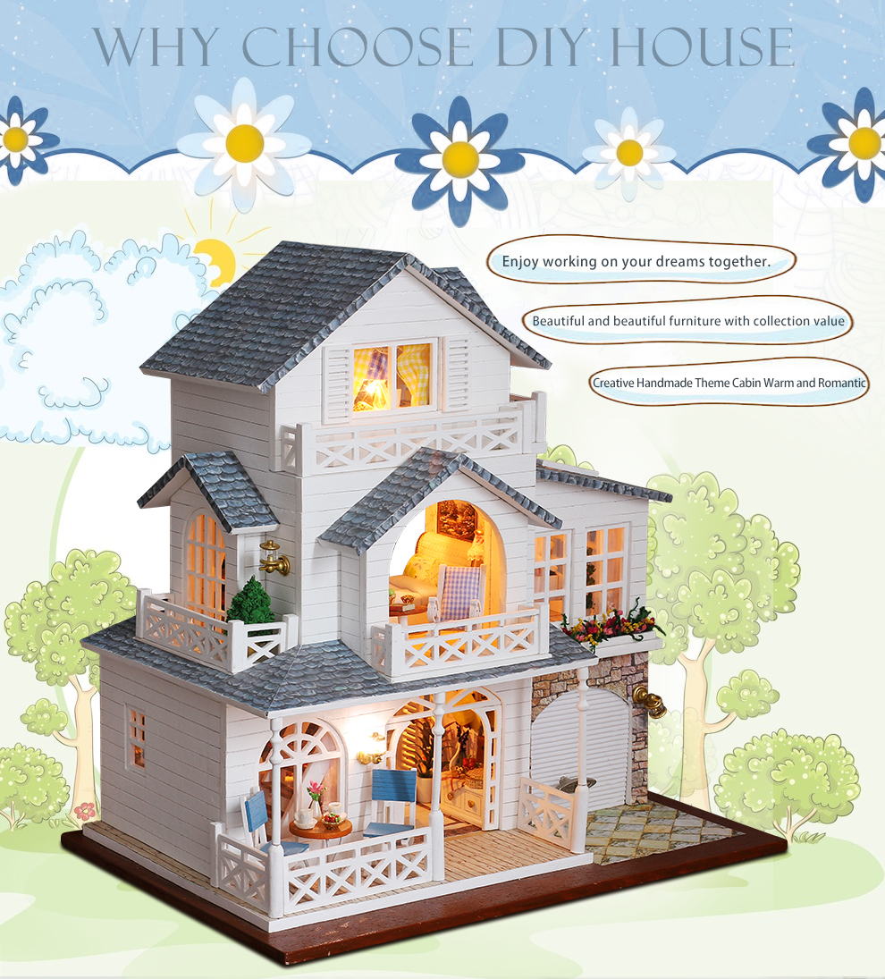 Nordic Town DIY 3D Miniature Villa Kit
