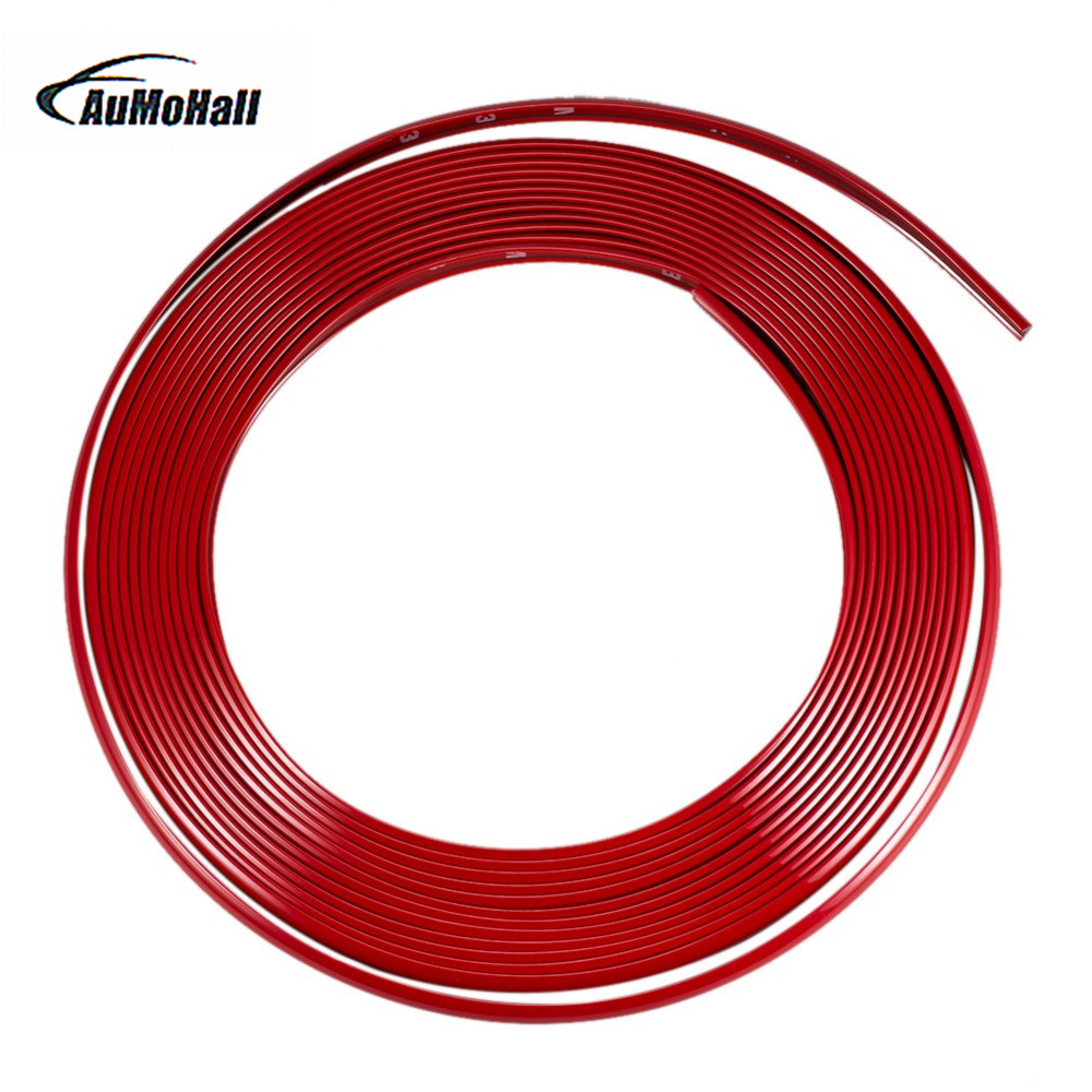 8M Car Wheel Rim Stickers Tuning Trend Vehicle Wheel Rim Protector Tire Guard Line Rubber Moulding Car styling Hot sale ad 0809 car door guard protectors stickers black 8 pcs
