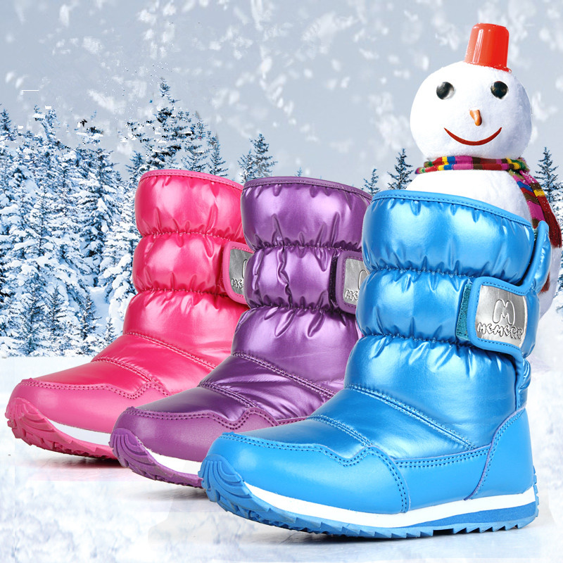 все цены на Winter boots for girls boys,children boots slip-resistant waterproof thermal girls child cotton-padded shoes boys snow boots