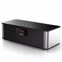 Alarm Clock Portable Wireless Bluetooth Speaker Big Power 10w Subwoofer Hifi Spearkers With Mic FM Radio