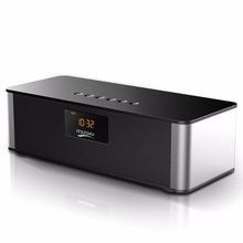 Будильник Портативный Беспроводной Bluetooth Динамик большой Мощность 10 Вт сабвуфер HiFi Динамик S с микрофоном FM радио для мобильного телефон