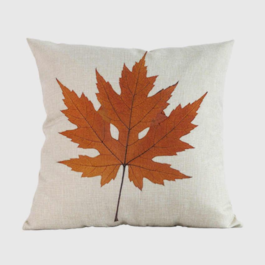 كندا القيقب أوراق النبات غطاء الوسادة الأصفر الخريف يترك المنزل وسادة رمية مزخرفة غطاء القطن غطاء وسادة أريكة كتان