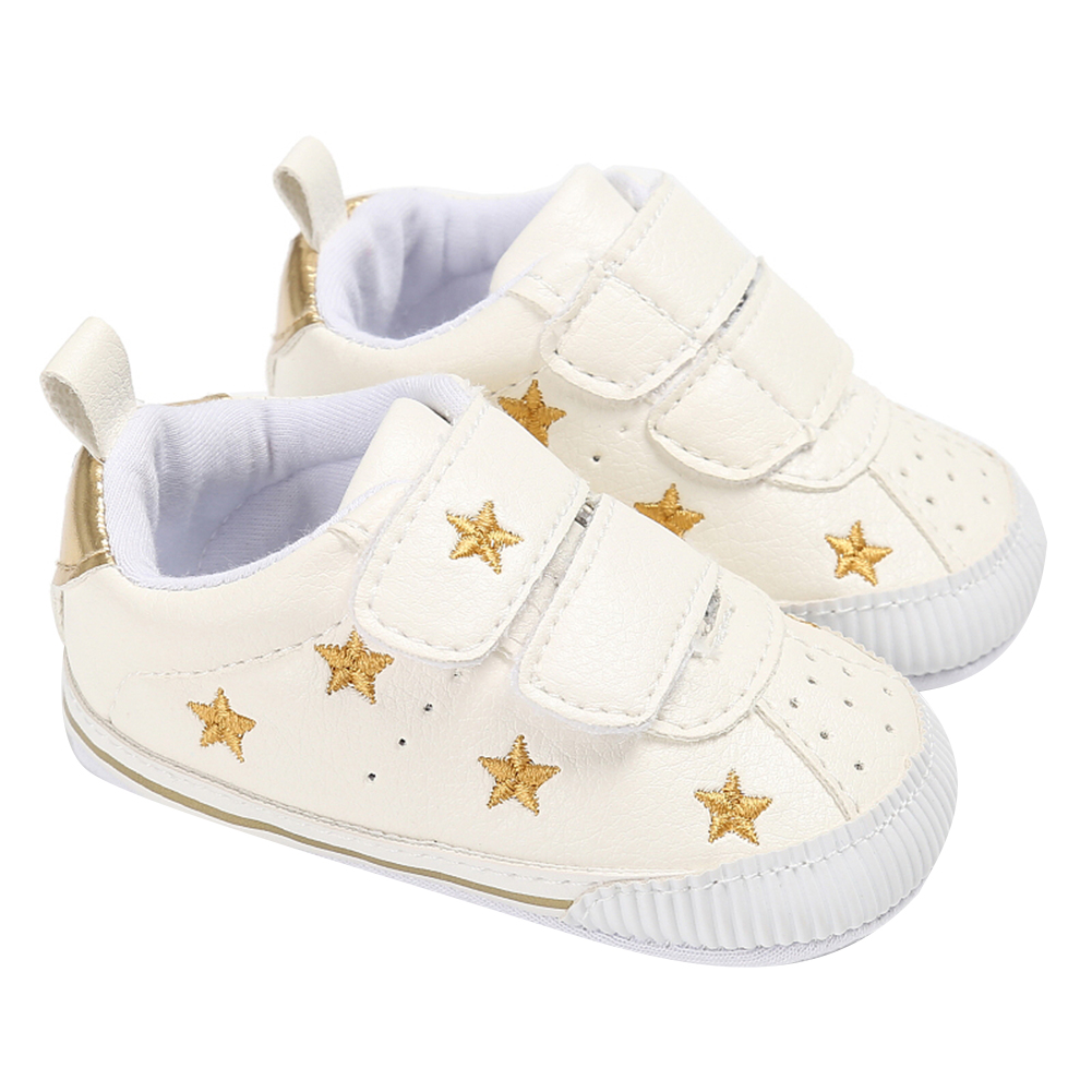 Infant Sneakers Us 4 04 6 Off Newborn Baby Shoes Boys Girls Sneaker Gold Stars Pattern First Walkers Shoes For Children Baby Infant Sneakers Gift In First Walkers