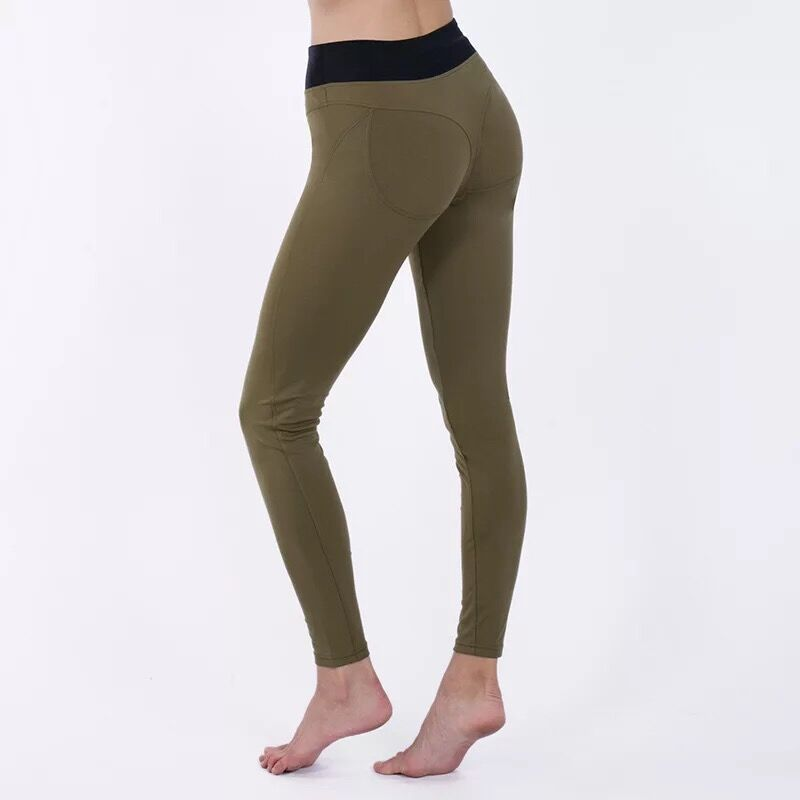 Sexy Women Yoga Pants Elastic Fitness Slim Tights Running Sportswear Sports Pants Quick Drying Training Trousers Sport Leggings in Yoga Pants from Sports Entertainment