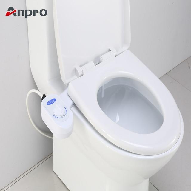 Anpro неэлектрическое Ванная комната механический биде, туалетное сиденье пресной воды Насадка один разбрызгиватель гинекологический пистолет для мойки