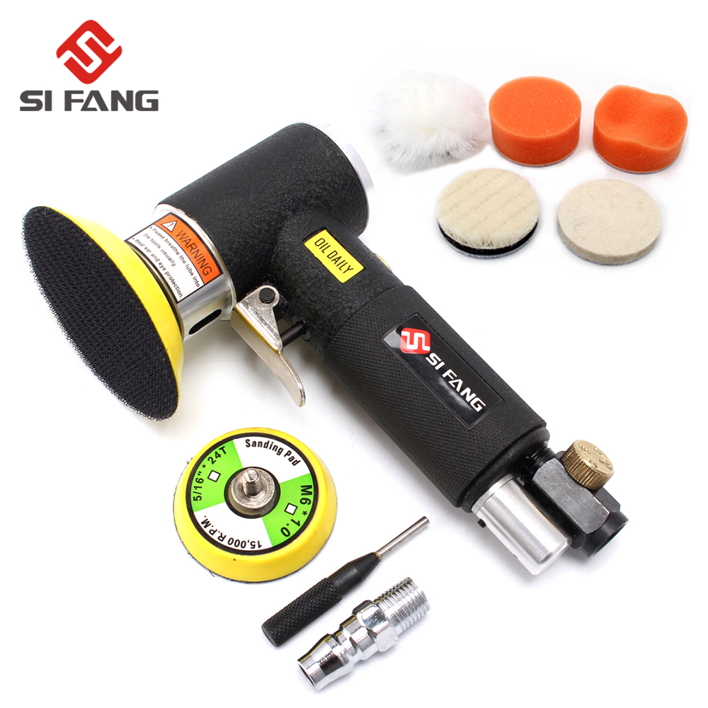 Pneumatic Polishing Grinding Machine 2inch 3inch Mini Orbital Air Sander  Air Tools Buffer Dual Action Orbital Polisher For Car