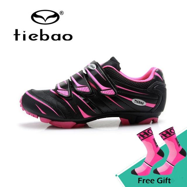 Tiebao New Women Mountain Bike Shoes Non-slip Soft MTB Riding Shoes Female  Self-locking Cycling Shoes Sapatos de ciclismo 4384b26e7