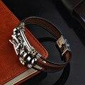 2021 модные очаровательные ювелирные изделия ручной работы кожаный браслет с драконом Мужские Винтажные Многослойные браслеты Браслет-манж...
