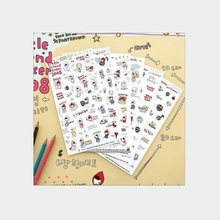 6pcs/set Cute Girl Cartoon Diary Sticker Little Red Riding Hood Tablet Decals Cell Phone Decorative Sticker Child DIY Toy Oc19