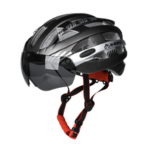 Cycling Bicycle Helmet Magnetic Goggles Men Women Riding Bike Sports Safety Lens MTB Road Helmets Breathable Ski Equipment propro horse riding ski helmets half covered men women capacetes de motociclista sports safety hat helmet skiing headwear