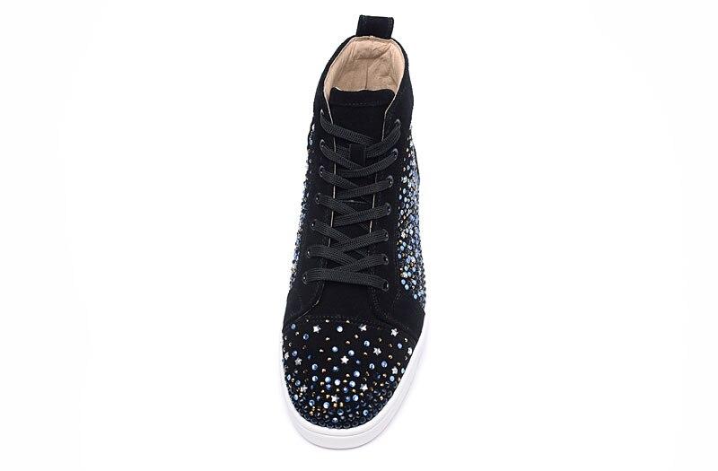 Cristal Colorido as Hombre Rebaño Botas Unisex As Moda Zapatillas Deporte Diseñador Lujo Alta Hombres Show Los 46 De Show Pisos Fondo Casuales Zapatos Encaje x5qBEA