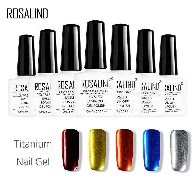 How To Clean A Titanium Nail: ROSALIND Gel 1S 10ML Titanium Nail Gel Polish UV LED Soak