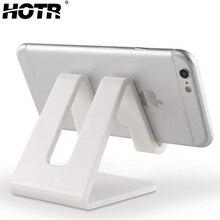HOTR универсальный настольный держатель для планшета, держатель для мобильного телефона с противоударной силиконовой накладкой, крепкая пластиковая подставка-держатель для сотового телефона, крепление