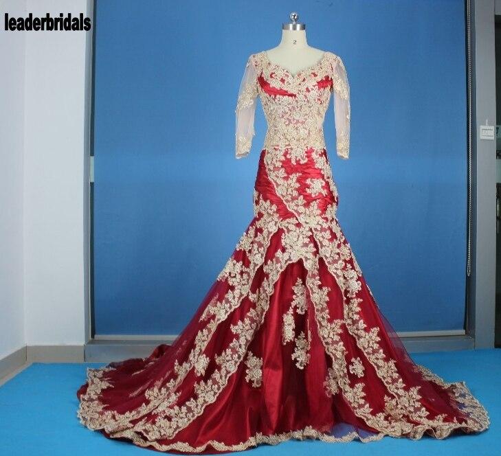 Vestidos De Novia Lace Wedding Dress Two Pieces Sleeveless Mermaid ...
