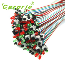 CARPRIE ATX PC Compute Motherboard Power Cable 1 Switch On Off / Reset with LED Light