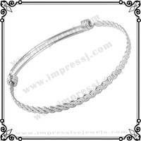 IJB0273 50PCS/100PCS/200PCS/500PCS/1000PCS/LOT Stainless Steel Bangle Twisted Wire Bracelet Women Jewelry Bracelet for Gift