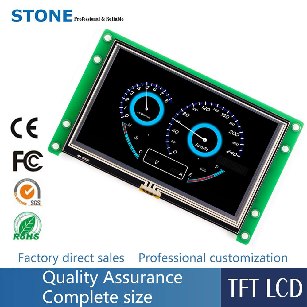 4.3 inch LCD Display Module with CPU + Program + Touchscreen Support Any Microcontroller