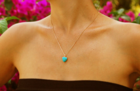 FLTMRH Necklace Pendant-Chains Turquoises Amethyste-Stone Women Jewelry