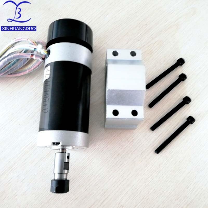 500W Brushless Spindle ER11 or ER16 DC 0 48V CNC Engraving Milling Air Cooled Motor Carving