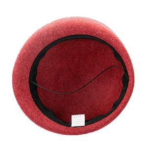 Image 5 - FS 100% Australian Wool Felt BeretsสุภาพสตรีศิลปินBeretหมวกสำหรับสุภาพสตรีหมวกCasual Boinaดอกไม้หมวกBoina Femininoหมวก