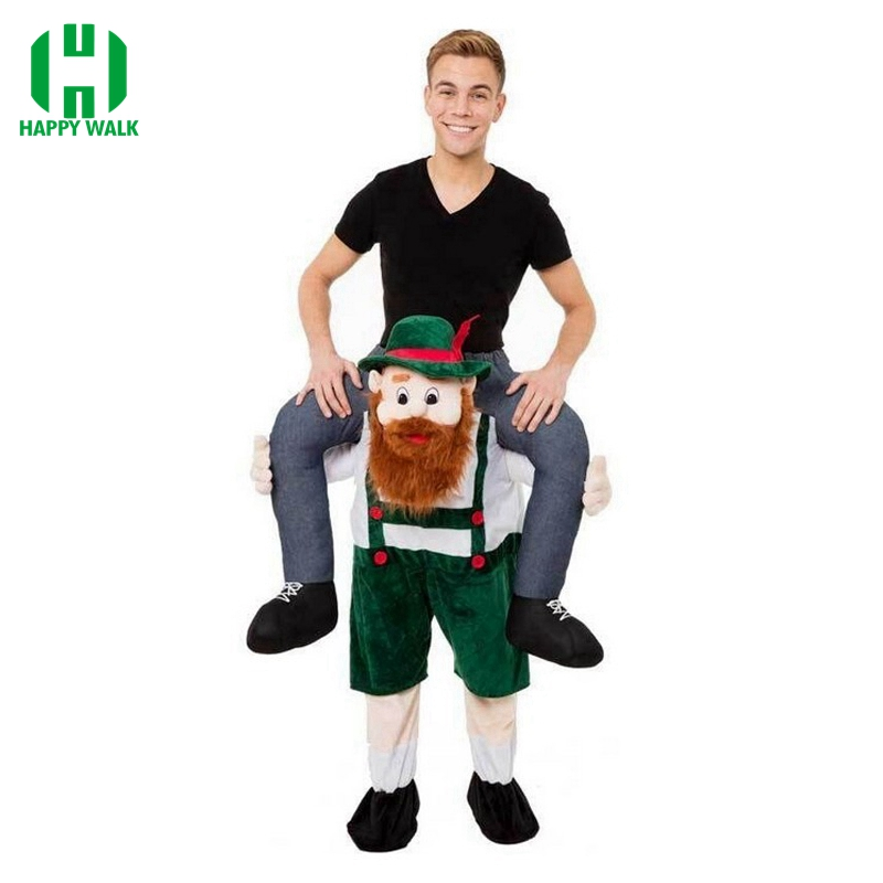 New Mascot Costume Unisex Novelty Halloween Cosplay Ride On Costume Funny Fancy Dress Pants Up Ride Adult Mascot Party Costume