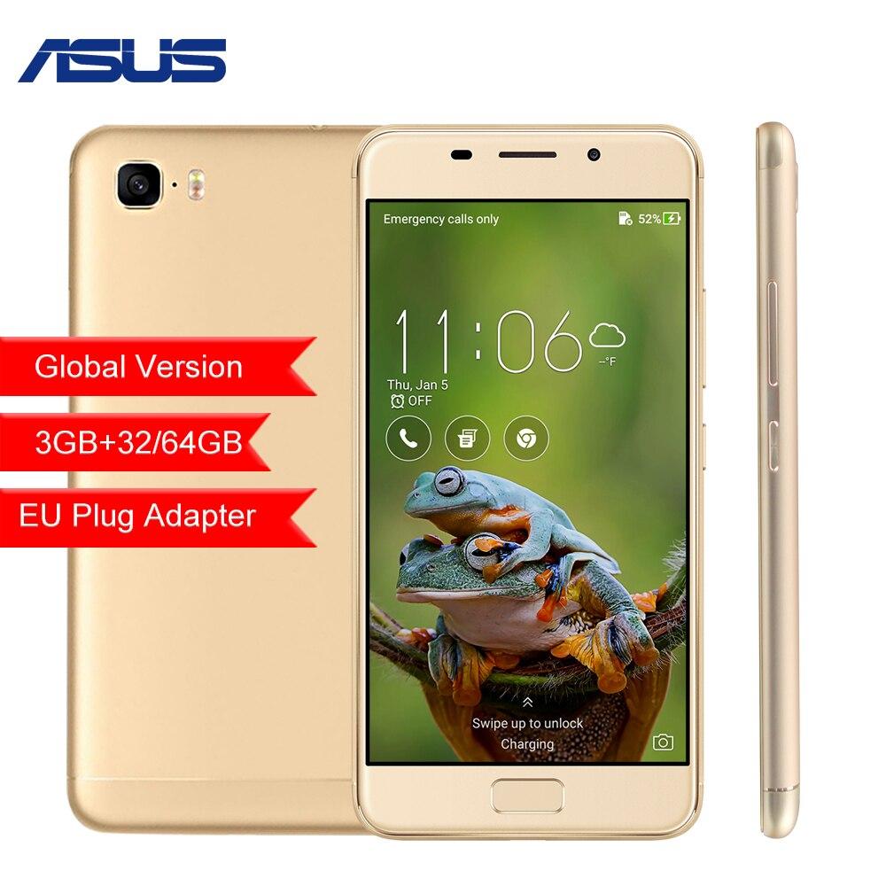 Глобальная версия ASUS Zenfone 3 S Max ZC521TL 5,2 3 ГБ 32 ГБ 64 ГБ Восьмиядерный Android 7,0 5000 мАч мобильного телефона