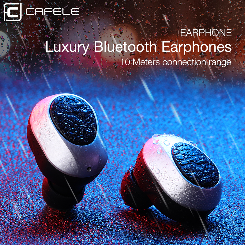 CAFELE Wireless Bluetooth Earphone High Sound Quality In-Ear Earphone for iPhone Huawei Xiaomi with Charging Case Sport Earphone bluetooth v4 1 wireless sport running earphone stereo in ear magnet earbud with microphone earphone for iphone sumsang xiaomi