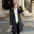 2016 Winter New Fashion Long Section Slim Causal Hooded Long Sleeve Solid Color Women Down Coat