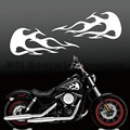 "MOTO decals Tank Flames Gas Tank Decals For Sporter Dyna Touring Sofitail 13""x5"" universal Tank Decals"
