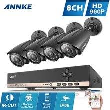 ANNKE Система ВИДЕОНАБЛЮДЕНИЯ 8-КАНАЛЬНЫЙ 960 P AHD HDMI H.264 CCTV DVR & 4X1.3 МП 960 P 2000TVL IP66 Наружного Наблюдения Камеры Безопасности CCTV комплект