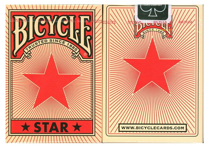 Bicycle Star red poker playing cards American bicycle for single license plate magic Playing Card Tricks props 81253