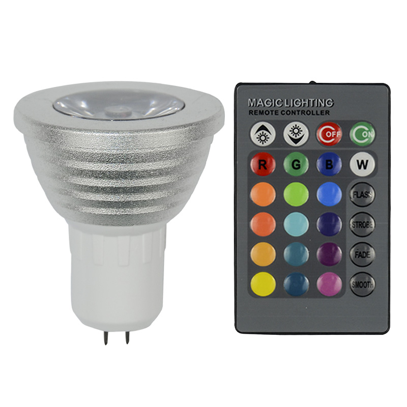 christmas lamp dimmable gu5 3 rgb led led. Black Bedroom Furniture Sets. Home Design Ideas