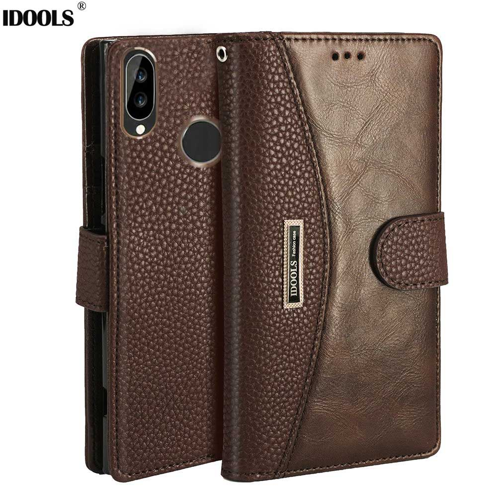 IDOOLS Wallet Case for Xiaomi Redmi Note 5 Pro Cover Luxury PU Leather High Quality Card Holder Flip Cases Note 6 Pro note6
