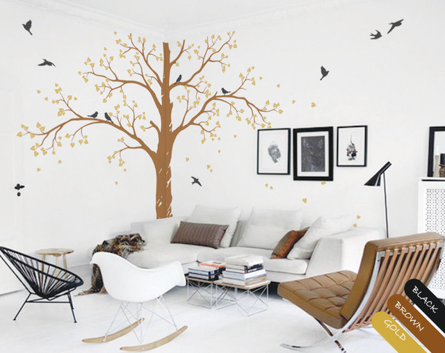 Wall Tree Decals Nursery Decoration Tattoos Large Corner DIY Removable Paper Size