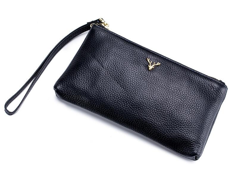 Bolsas de Couro Simples Moda Zipper Dia